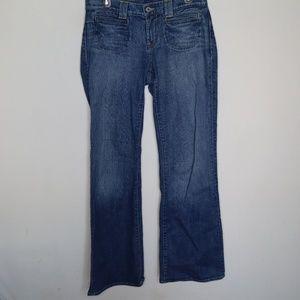 Lucky Brand Blue Wide Leg Sant Tropez Denim Jeans